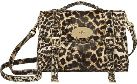 Mulberry Alexa Satchel in Animal (leopard)
