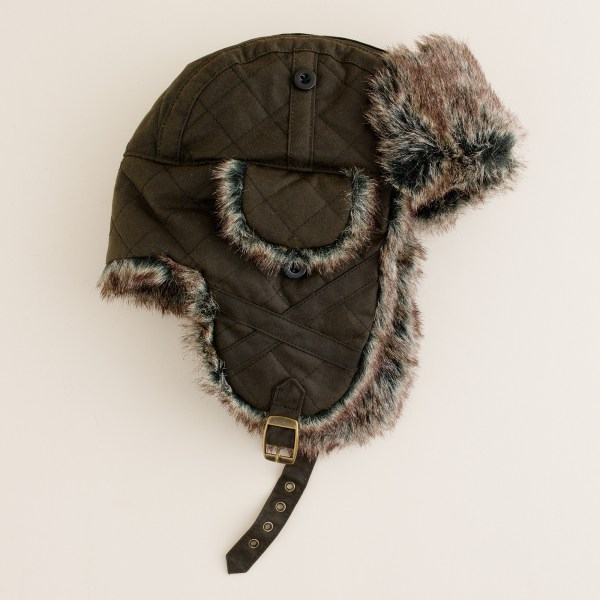 eb82c0c10beed Fleece Lined Trapper Hat. Lyst - .crew Barbour Trapper Hat In Green Men