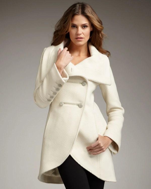 White Wool Coat - Sm Coats