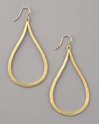Dogeared Always Beautiful Teardrop Hoop Earrings in Gold ...