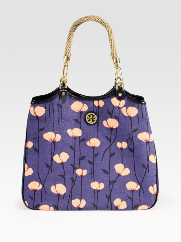 Tory Burch Canvas Tote Leather