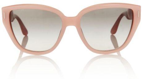 Miu Miu Pastel Cat Eye Sunglasses in Pink