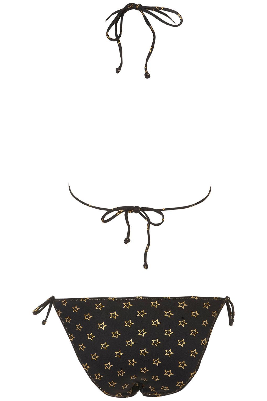 Lyst Topshop Star Triangle Bikini In Black
