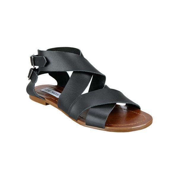 Lyst - Steve Madden Achilees Flat Sandals In Black