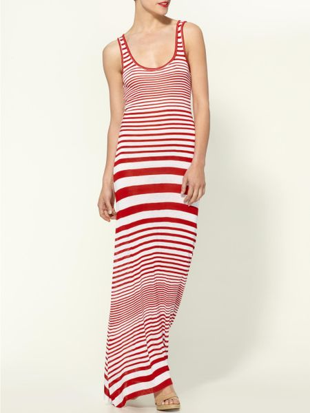 Whetherly Maryam Stripe Tank Maxi Dress in Red (red/white) - Lyst