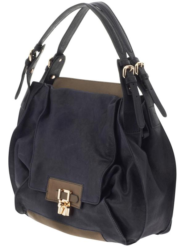 Kooba Valerie In Blue Navy With Taupe Lyst