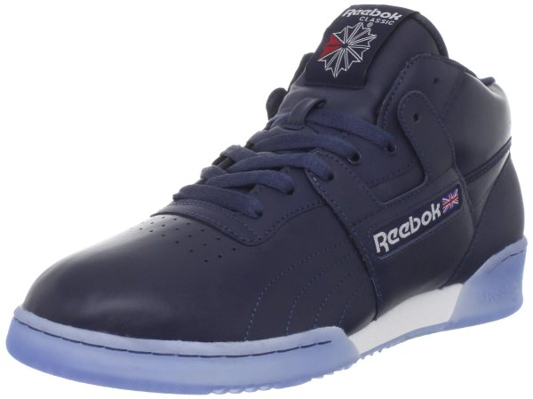Reebok Workout Mid Ice Laceup Fashion Sneaker In Blue