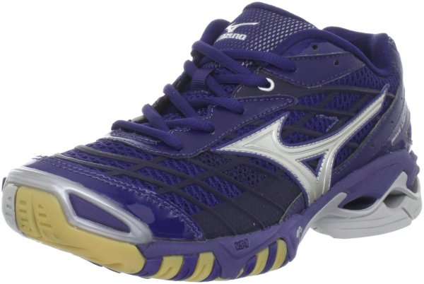 Mizuno Womens Wave Lightning Rx Volley Ball Shoe In Blue Navy Silver Lyst