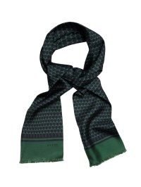 Gucci Linkprint Silk Scarf in Green for Men   Lyst