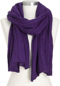 Old Navy Cable-knit Sweater Scarves in Purple (purple ...