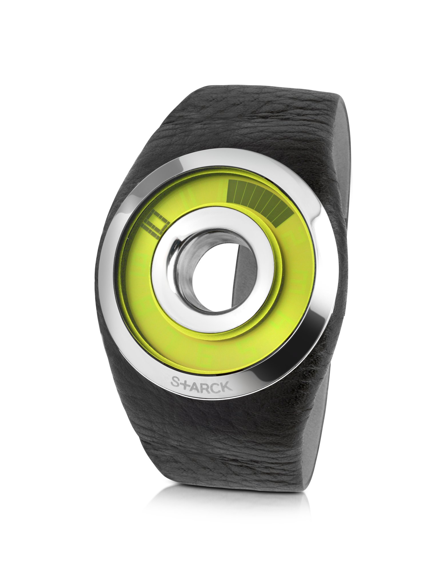 Philippe Starck Black Leather O-ring Watch in Black for Men   Lyst