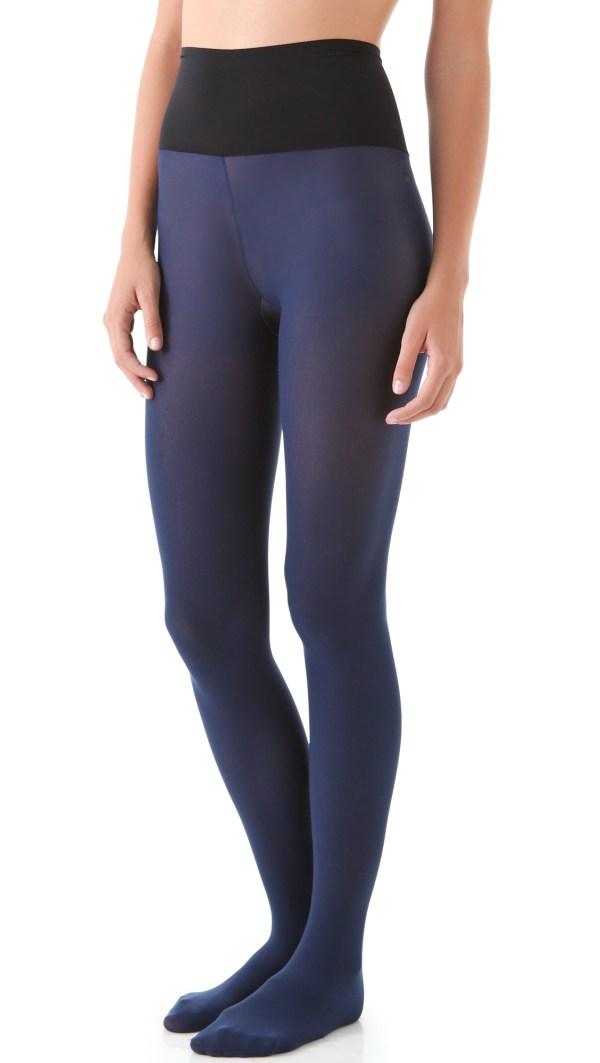Commando Matte Opaque Tights - Grey In Blue Lyst