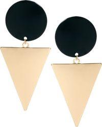 Asos Xl Spot Triangle Doorknocker Earrings in Black | Lyst