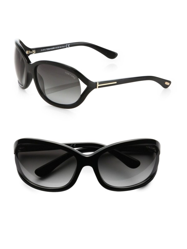 Tom Ford Jennifer Acetate Sunglasses In Black Lyst
