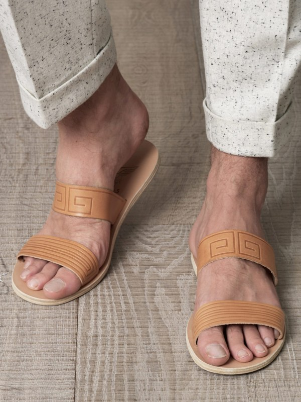 Ancient Greek Sandals Zeus In Brown Men - Lyst