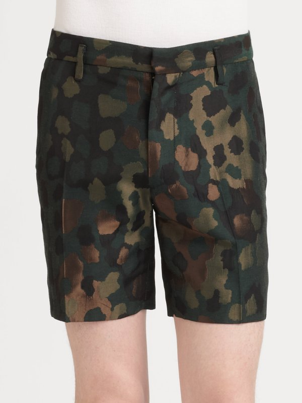 Lyst - Marc Jacobs Monty Camo Jacquard Shorts In