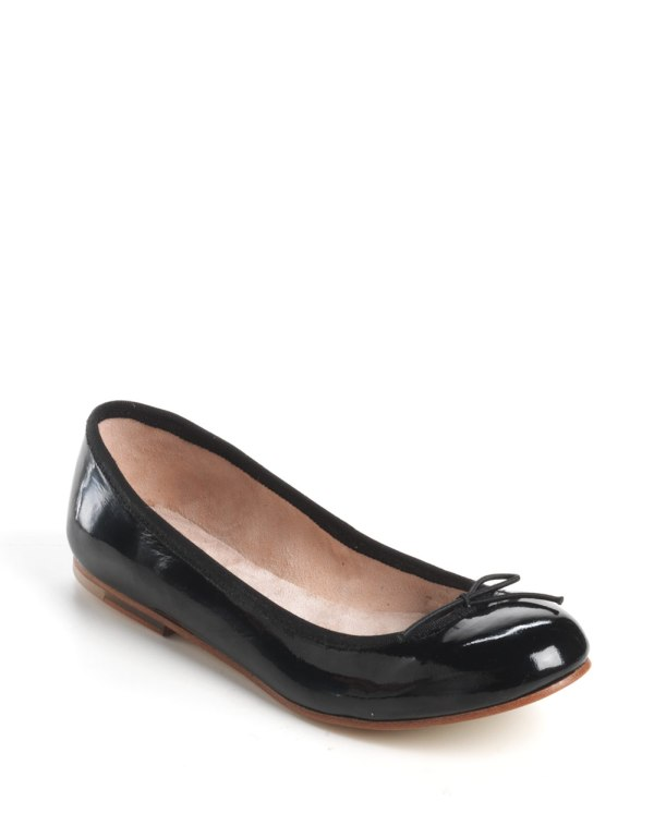 Bloch Patent Leather Ballet Flats in Black black patent