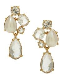 Kate Spade Fragment Pearl Drop Earrings in White (cream ...