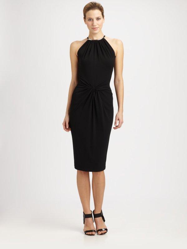 Michael Kors Necklace Halter Dress In Black Lyst
