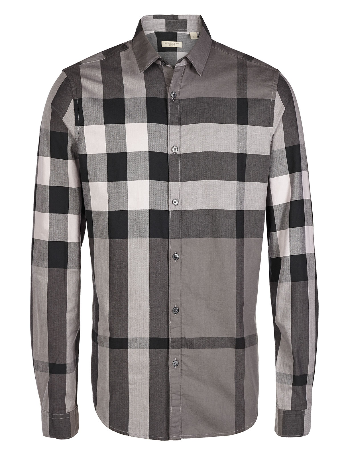 Burberry Shirt Plaid in Gray for Men | Lyst