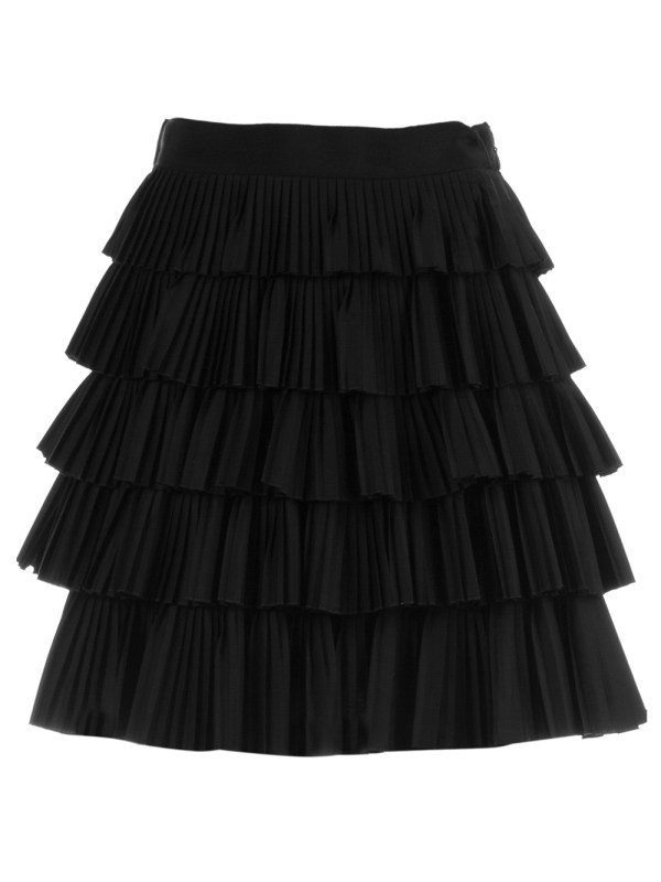 Robert Rodriguez Tiered Pleated Skirt In Black Lyst