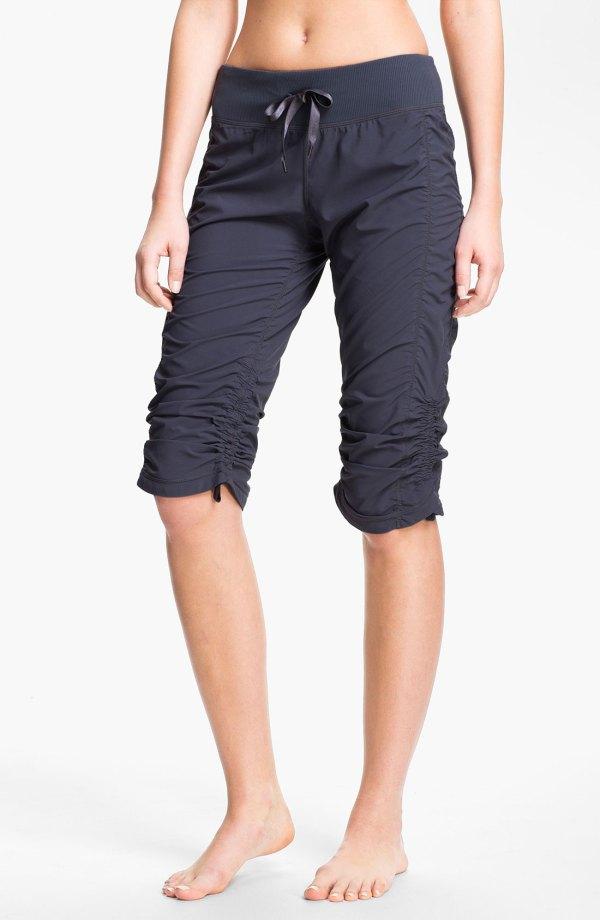 Zella Move Capri Pants In Gray Grey Slate Lyst