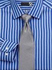 Blue White Striped Dress Shirt