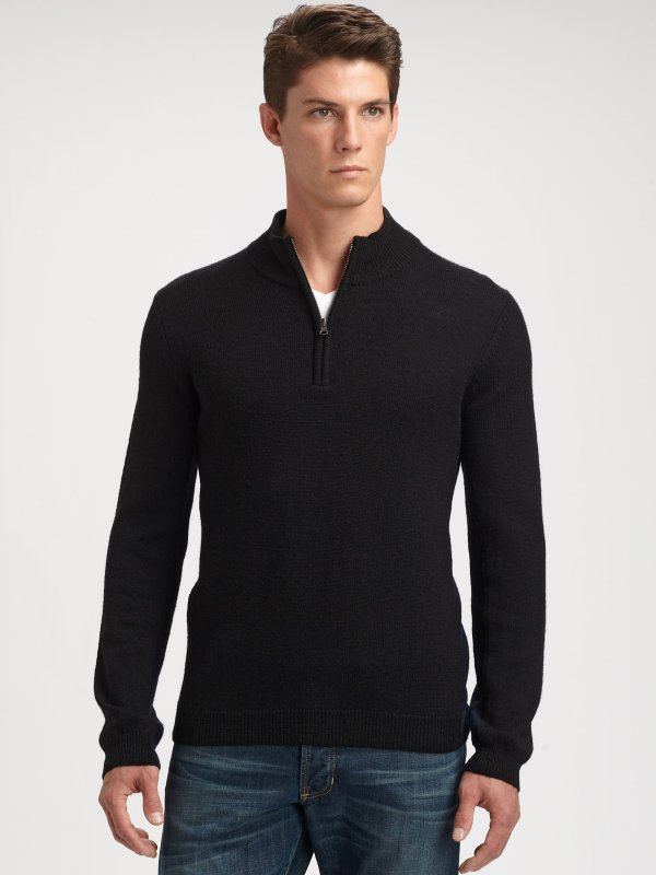 Vince Mock Turtleneck In Black Men Lyst