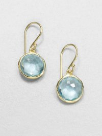Ippolita Lollipop Blue Topaz & 18k Yellow Gold Mini Drop
