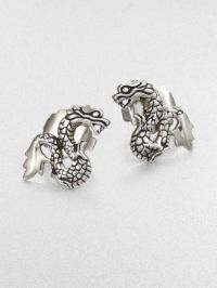 John Hardy Sterling Silver Dragon Stud Earrings in Silver