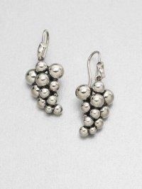Georg jensen Sterling Silver Grape Earrings in Metallic | Lyst