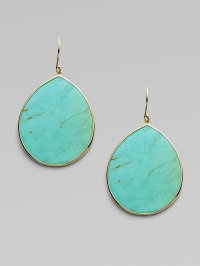 Lyst - Ippolita Turquoise 18k Gold Large Teardrop Earrings ...