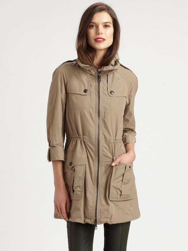 Lyst - Burberry Brit Badgeford Anorak Jacket In Natural