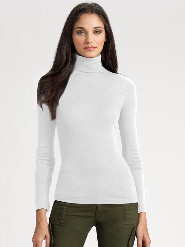 White Turtleneck Sweater Women