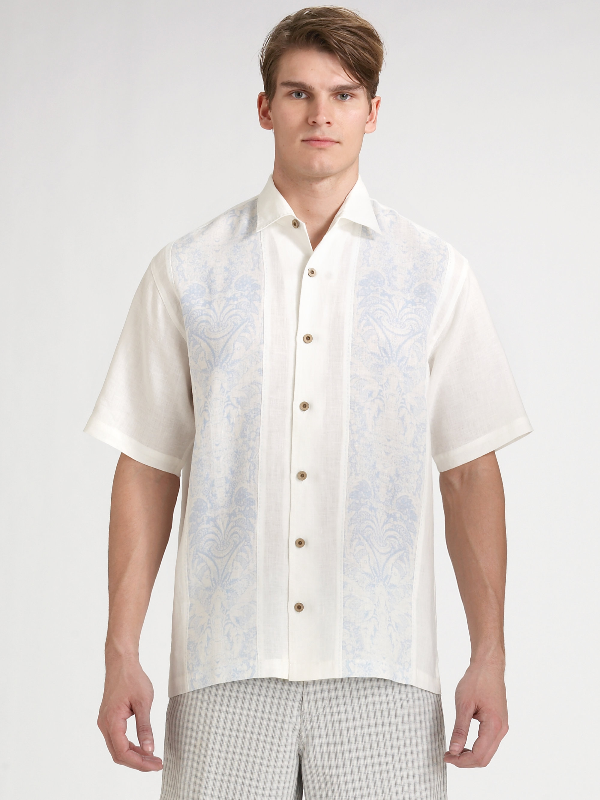 Tommy Bahama Martinique Line Shirt in White for Men cabo