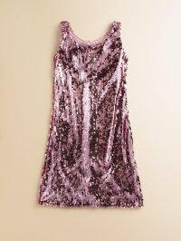 Lyst - Un Deux Trois Girls Sequin Shift Dress in Pink