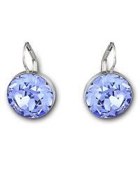 Swarovski Bela Faceted Crystal Drop Earrings in Blue   Lyst