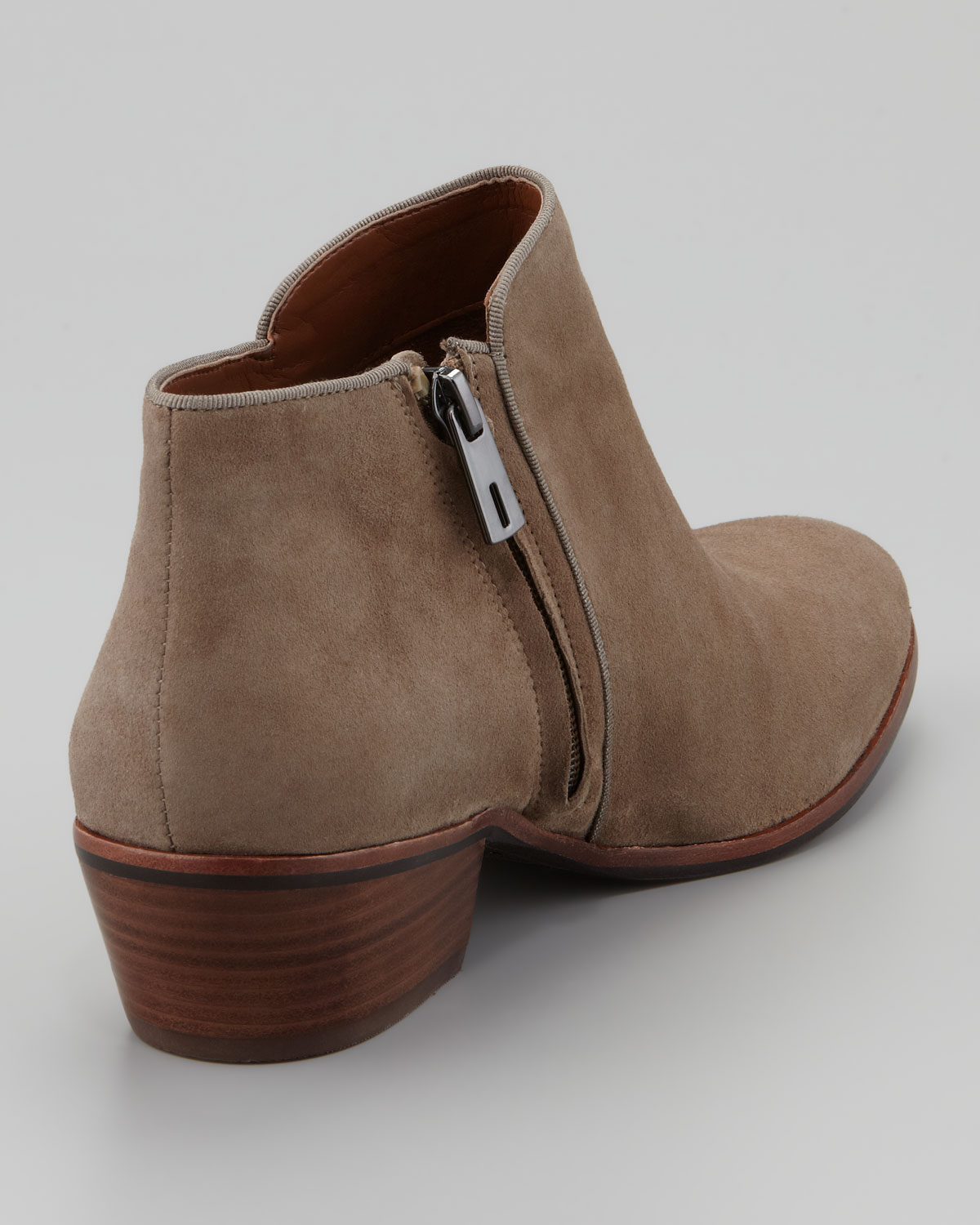 Sam Edelman Womens Petty Suede Ankle Boot Tan in Brown - Lyst