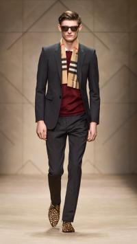 Burberry Check Felted Cashmere Scarf for Men | Lyst