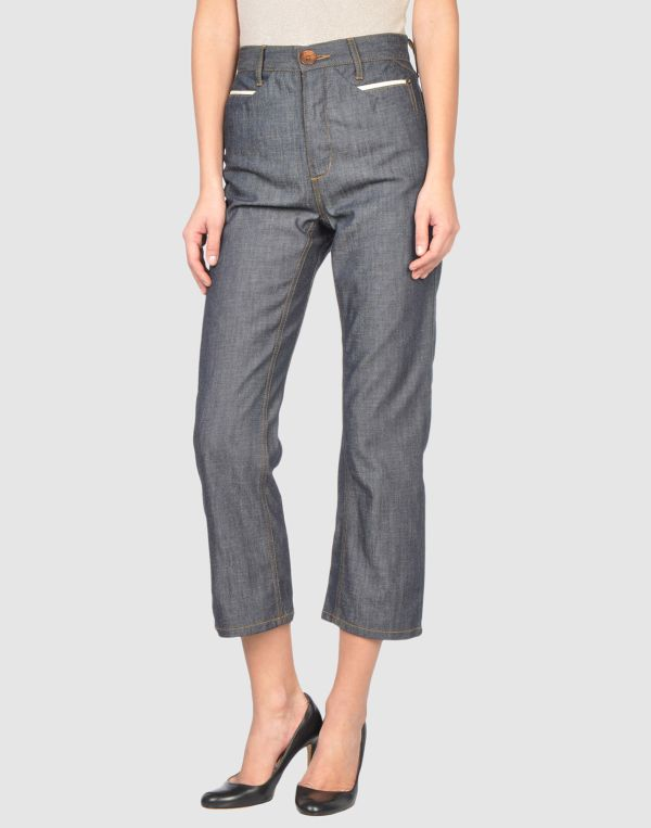 Gray Capri Pants for Women