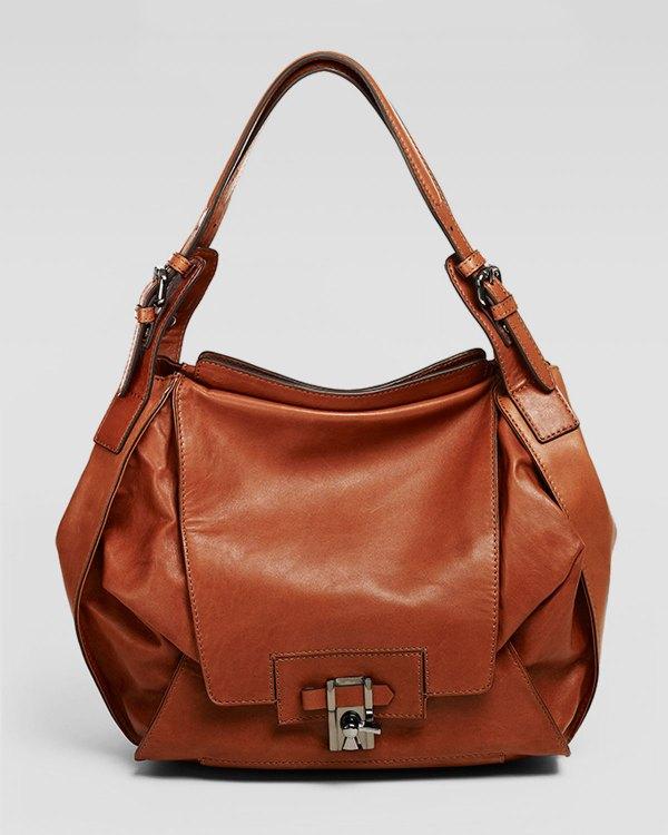 Kooba Valerie Flapfront Hobo Bag Cinnamon In Brown