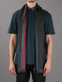 Gucci Print Scarf in Black for Men | Lyst