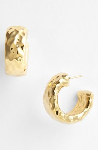 Simon sebbag Small Hammered Hoop Earrings in Gold | Lyst