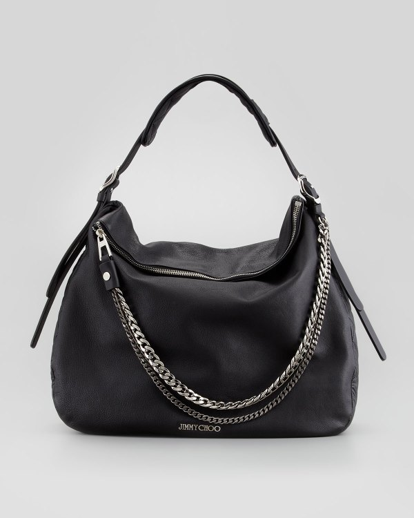 Jimmy Choo Boho Biker Hobo Bag Black In Lyst
