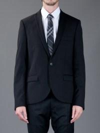 Lyst - Burberry Check Silk Tie in Black for Men