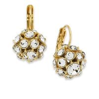Kate spade 12k Gold-plated Crystal Ball Drop Earrings in ...