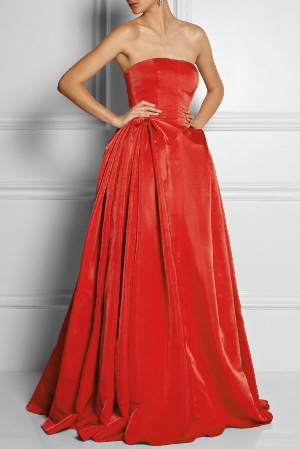 Alexander Mcqueen Duchess Silk Satin Gown In Red - Lyst