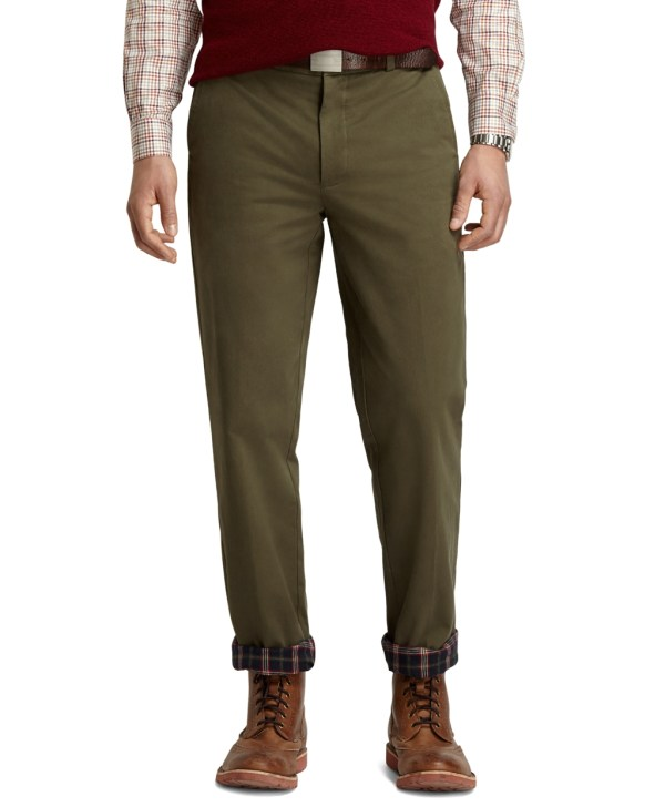 Lyst - Brooks Brothers Clark Fit Flannel Lined Vintage Chinos In Green Men