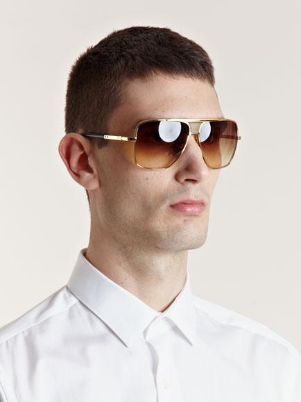 Lyst  DITA Eighteen Carat Gold Matador Sunglasses in