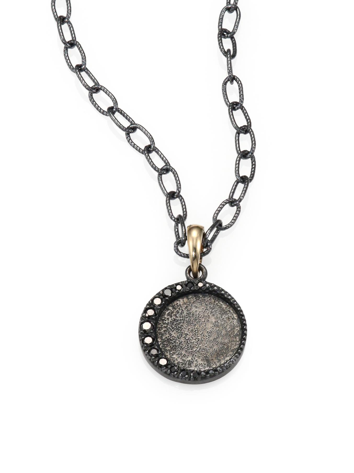 Mizuki Black Diamond, Oxidized Sterling Silver And 14K